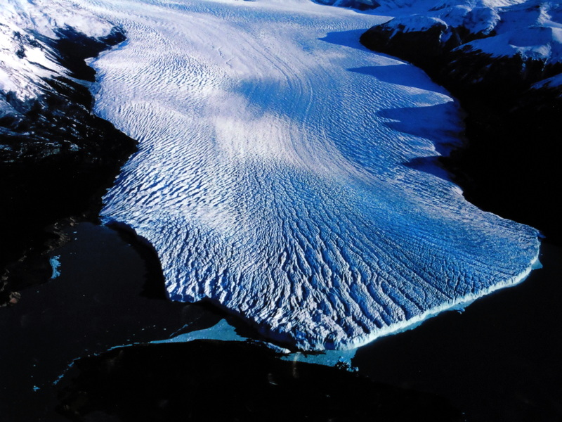 Le Perito Moreno, vu du ciel