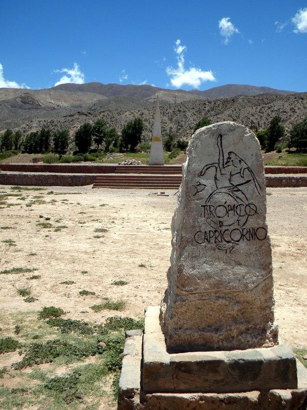 Huacalera, Passage du tropique du Capricorne