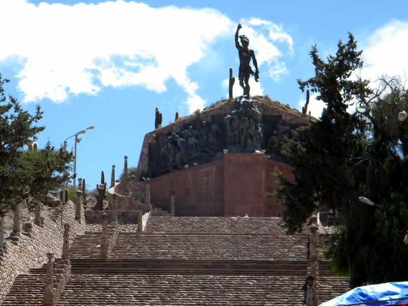 Humahuaca, Le grand escalier