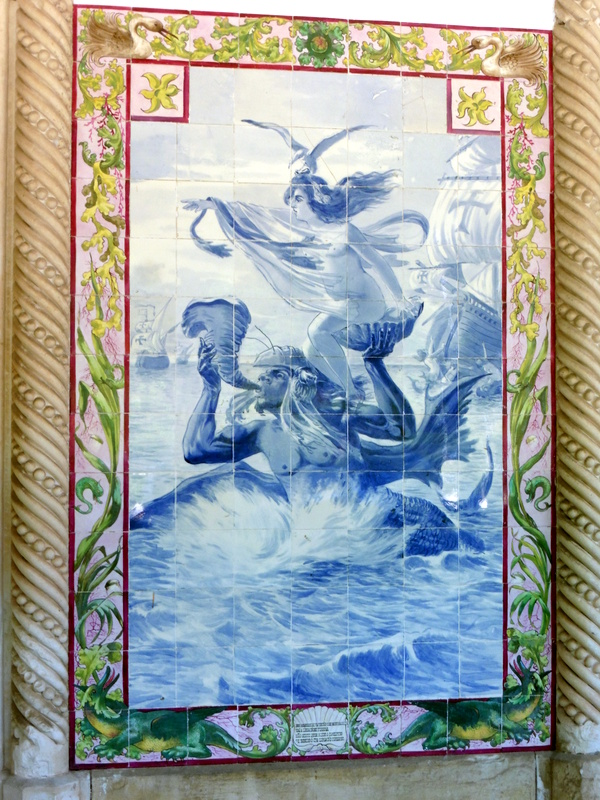 Azulejos d'inspiration mythologique