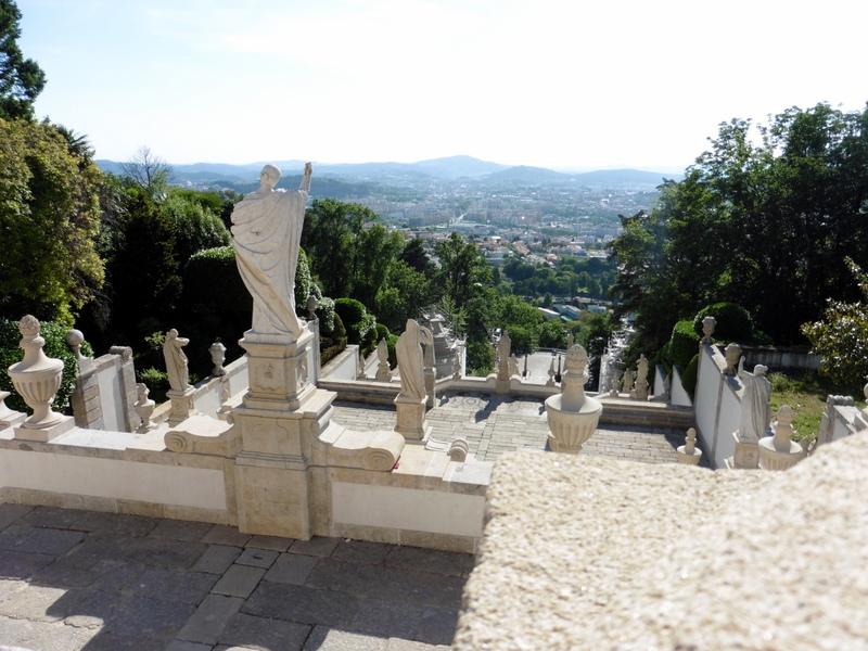 Belle vue sur Braga depuis le sanctuaire