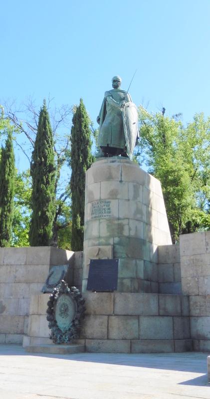 Afonso Henriques en chevalier médiéval