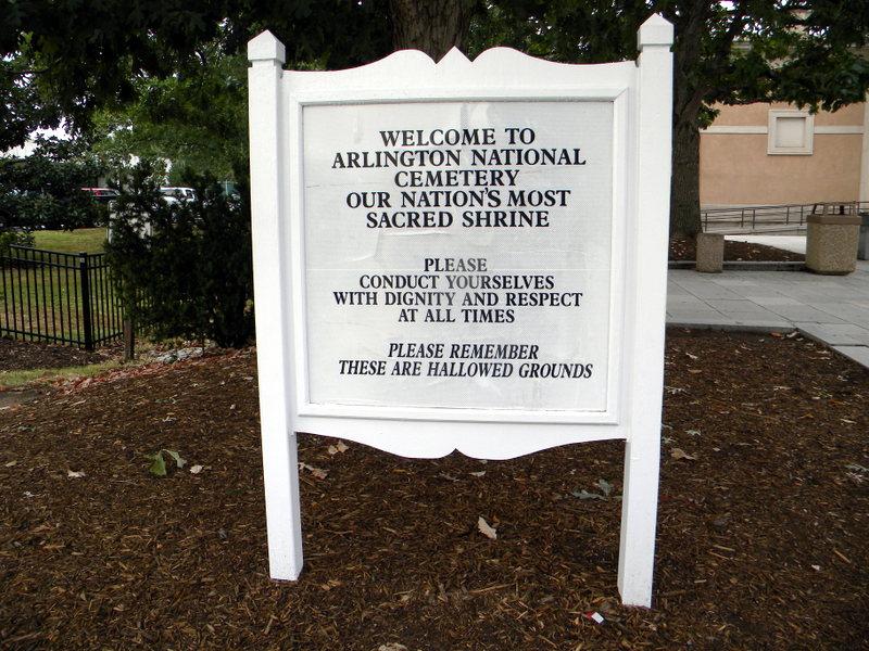 Arrivée au cimetière d'Arlington