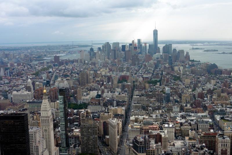 Vue sur la pointe sud de l'île de Manhattan