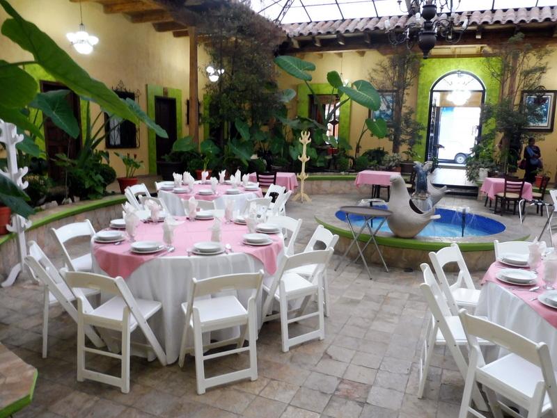 Le patio de l'hôtel Encantada à San Cristobal de las Casas