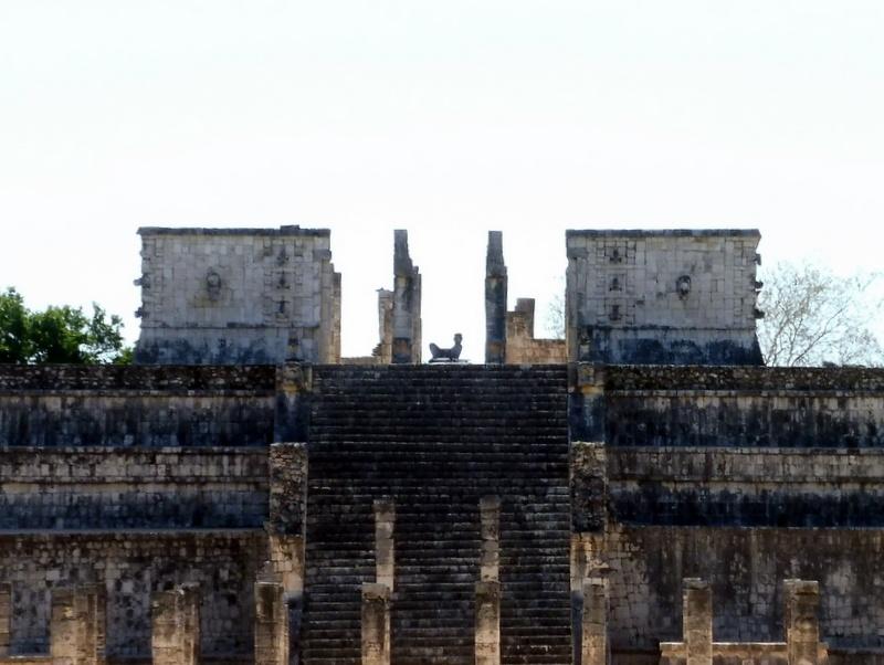 L'entrée du Temple des Guerriers