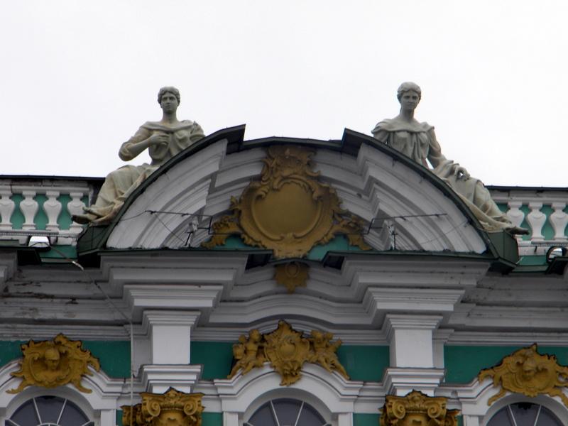Le Palais d'Hiver - Détail de la façade