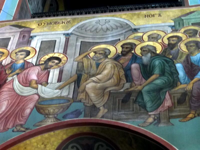 Cathédrale Saint-Georges-Le lavement des pieds