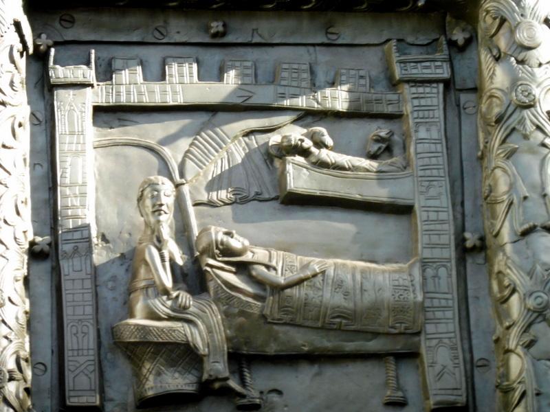 Détail de la porte de Magdebourg - La Nativité