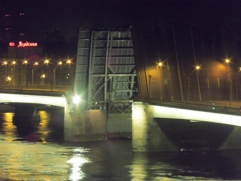 Pont levé la nuit