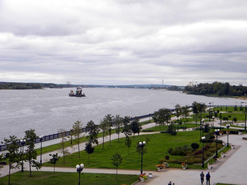 La Volga, vue de la Strelka