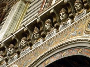 La galerie des papes, Sienne, Toscane, Italie