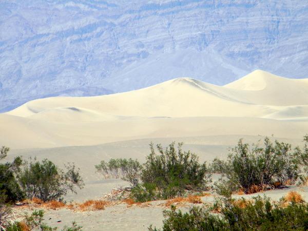 Les dunes de sable de la vallée de la mort
