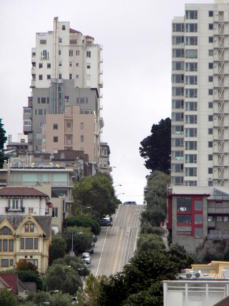 Les rues en pente de San Francisco