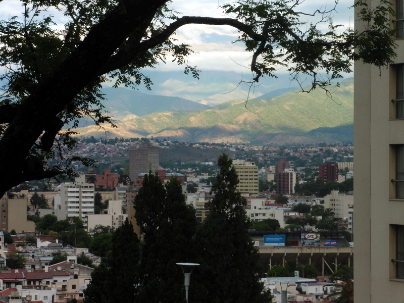 Salta, vue de l'hôtel