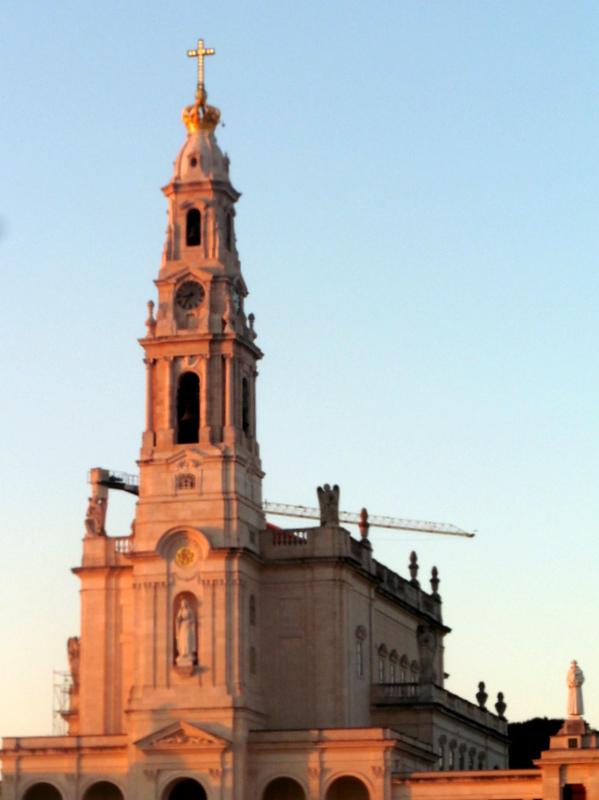 La basilique, le soir