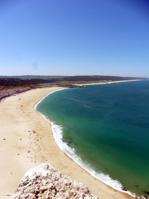 La plage vue du Sitio