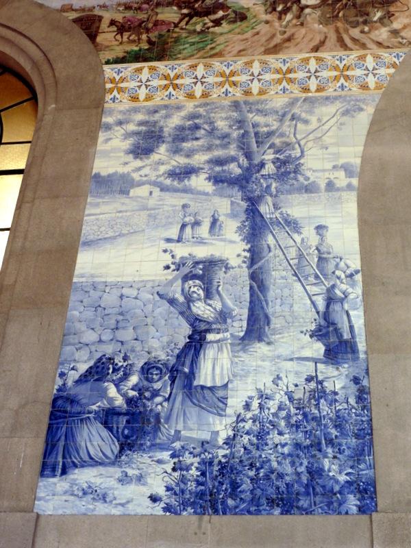 La gare Sao Bento : azulejos