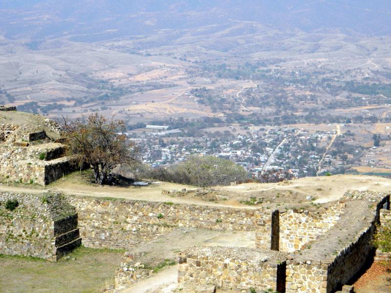 Oaxaca vue depuis Monte Alban