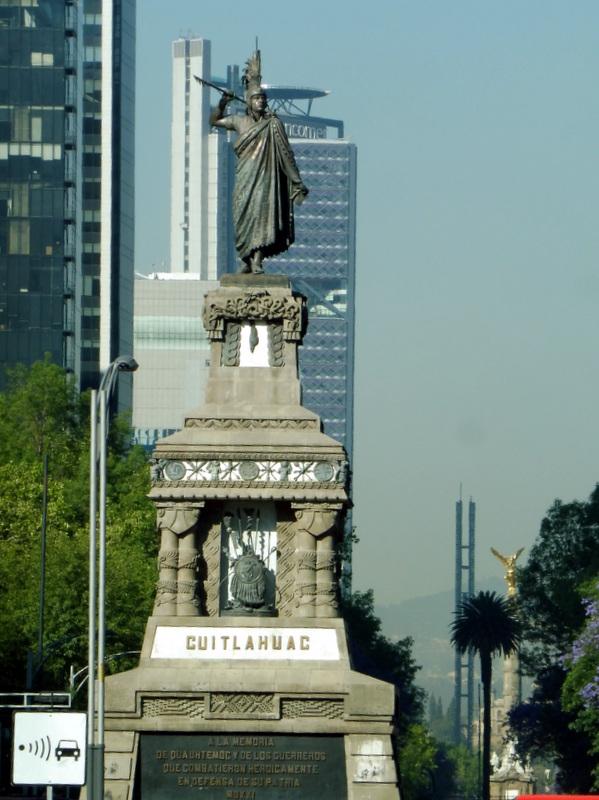 Statue du dernier empereur aztèque