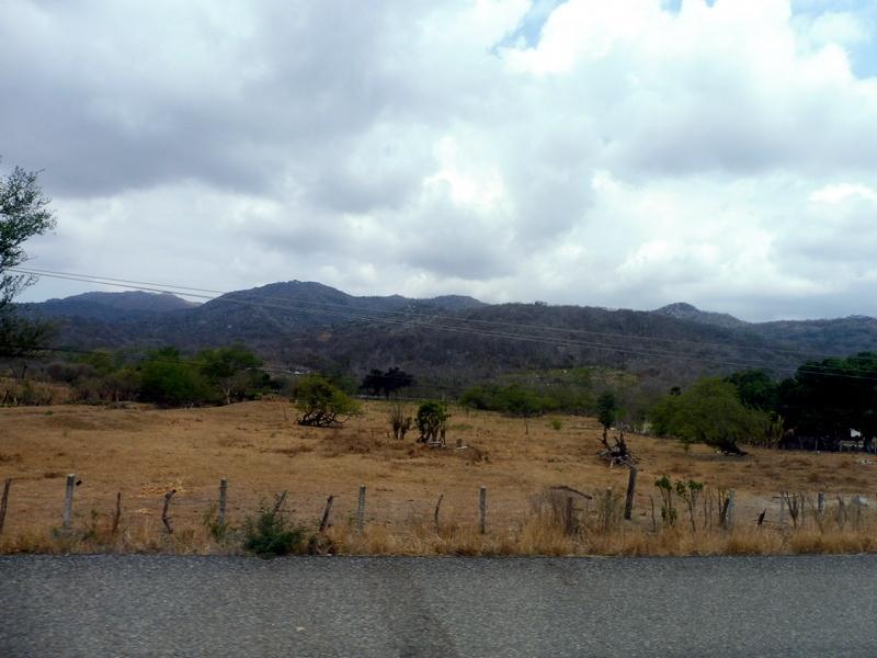 Paysage sec sur la route de Tuxtla Gutierrez