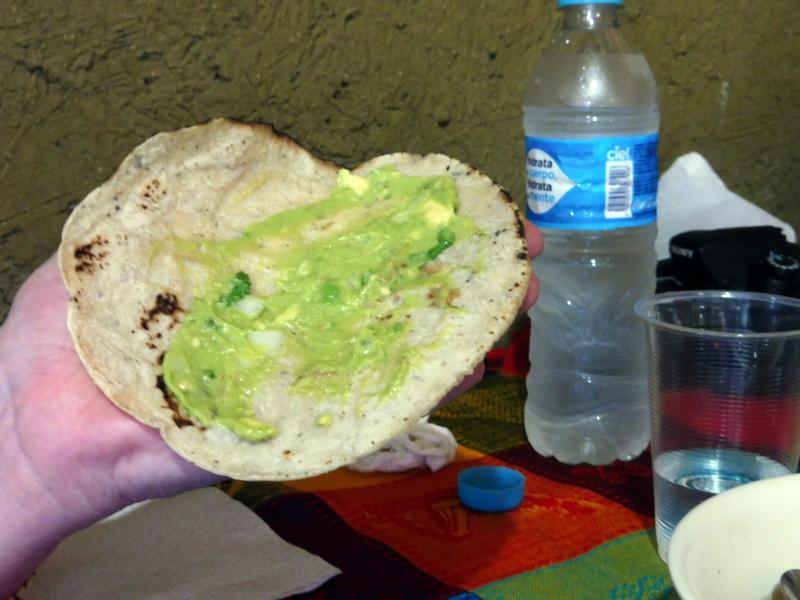 Guacamole et galette de maïs