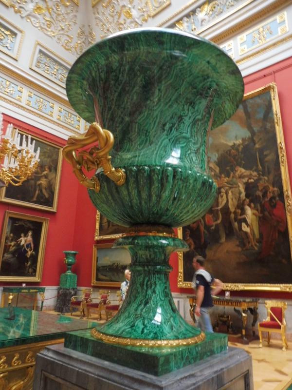 Vase en malachite