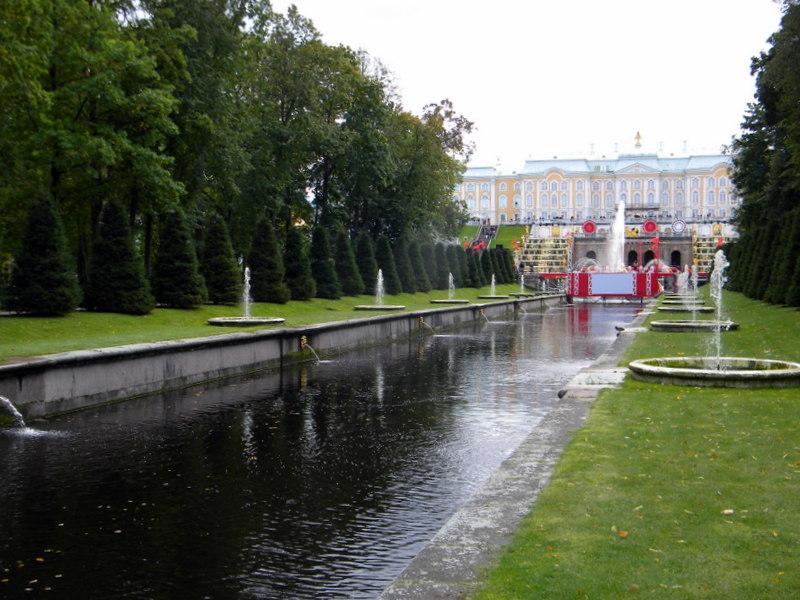 Arrivée à Peterhof