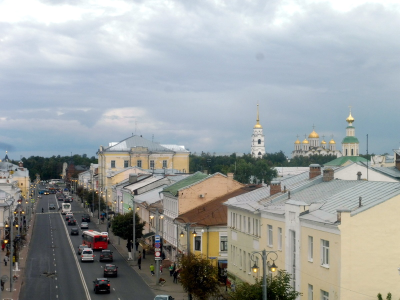 Vladimir, vue du haut de la Porte d'Or