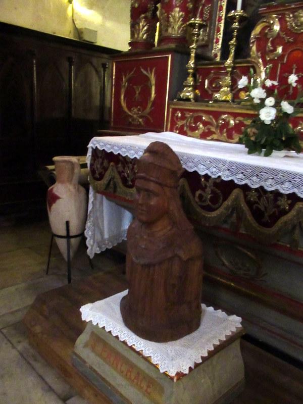 Aups, église Saint-Pancrace, buste de saint Pancrace