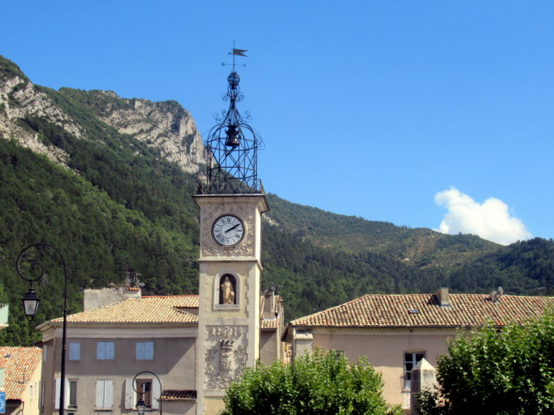 Sisteron, la tour de l'Horloge, campanile