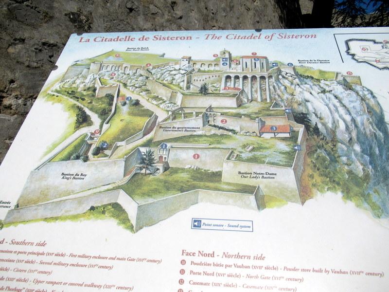 Sisteron, Plan de la citadelle