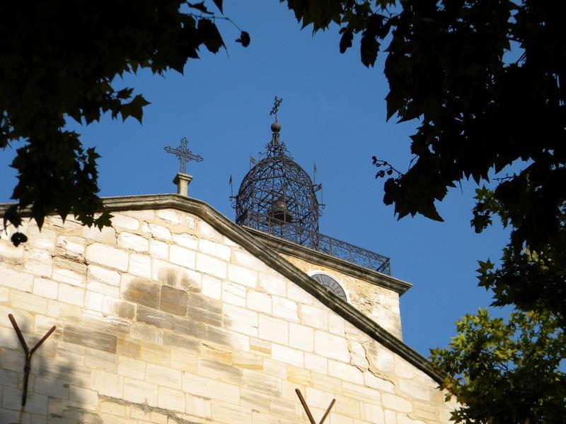 Manosque, le campanile en fer forgé de l'église Saint-Sauveur
