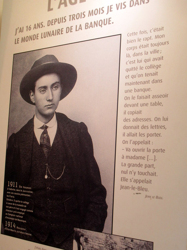 Manosque, Centre Jean Giono, portrait de Giono jeune
