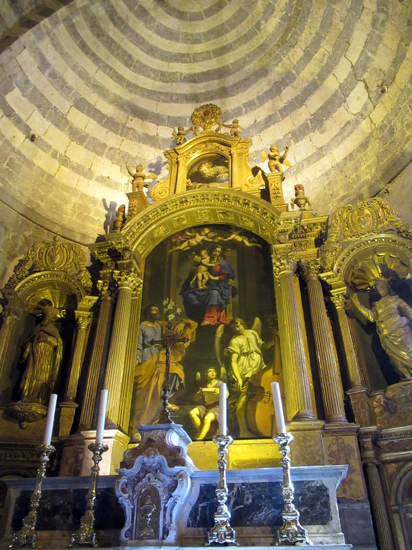 Alpes de Haute-Provence, Sisteron, Notre-Dame des Pommiers, retable de Mignard