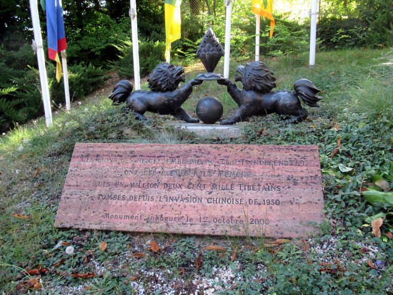 Digne, Maison d'A. David-Néel, les lions des neiges (emblème du Tibet indépendant)