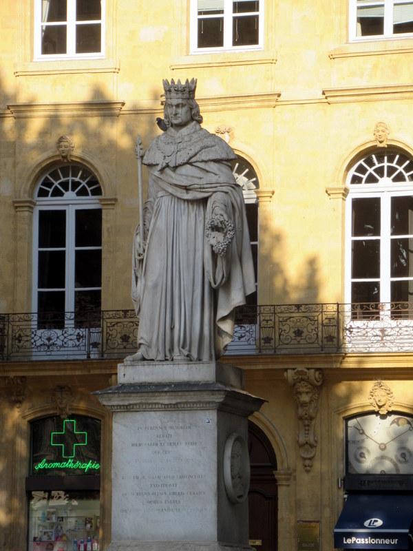 Aix-en-Provence, statue du roi René