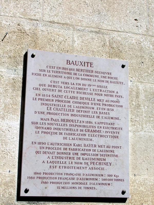 Les Baux de Provence, bauxite