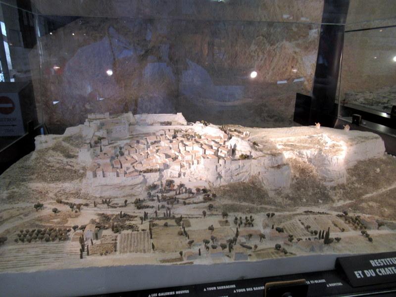 Les Bauxde Provence, maquette du site
