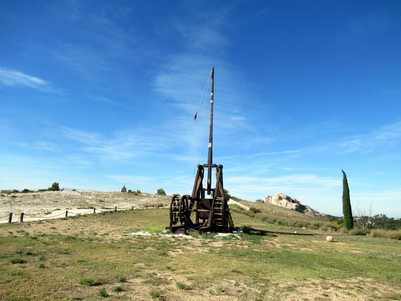 Les Baux de Provence, Citadelle, Machines de guerre