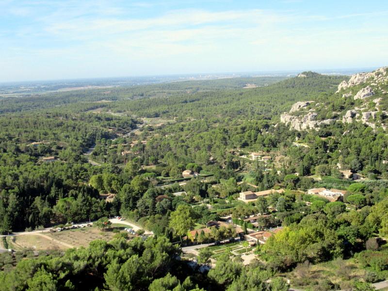 Les Baux de Provence, panorama vu depuis la citadelle en direction du sud