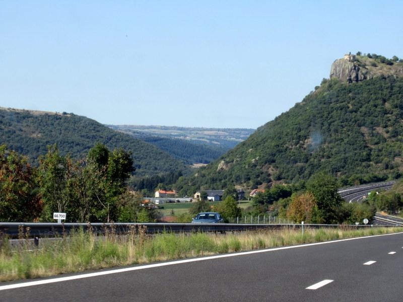 L'autoroute après l'auberge du Col