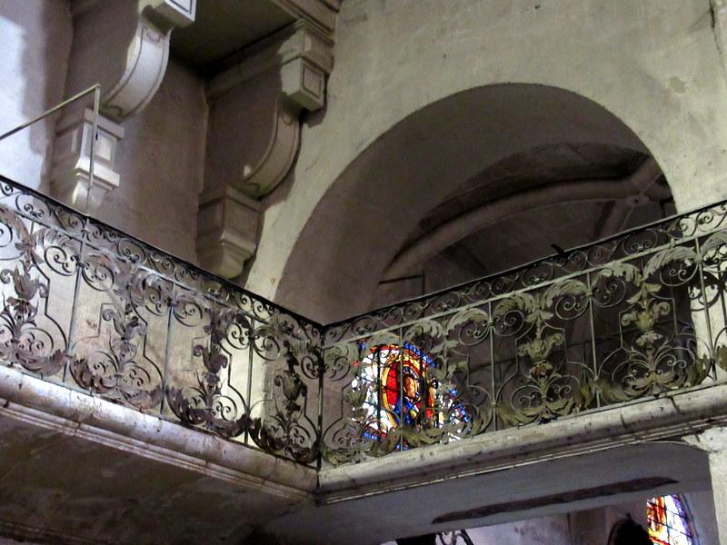 Uzès, cathédrale, balcons de fer forgé