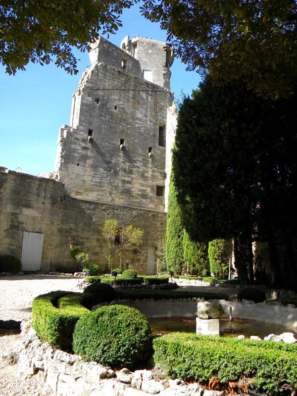 Uzès, le Duché, jardin à la Française
