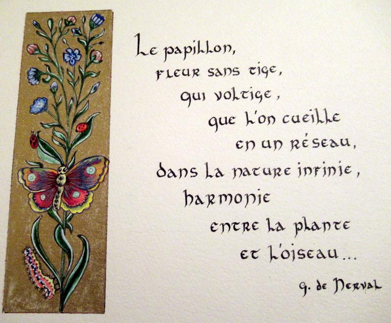 Enluminures, Grandes Heures d'Anne de Bretagne, Les Papillons de Gérard de nerval